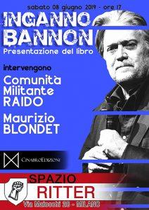08/6/2019 Presentazione del libro Inganno Bannon - Spazio Ritter @ Spazio Ritter