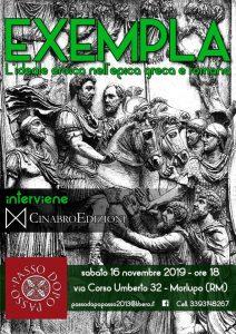 """16/11 - Presentazione del libro """"Exempla"""" presso la sede di Passo dopo Passo - Morlupo @ Passo Dopo Passo"""